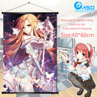 Anime Poster Sword Art Online Asuna Home Decor Wall Scroll Cos 40*60cm gifts