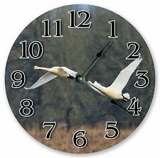"10.5"" TRUMPETER SWAN BIRD CLOCK - Large 10.5"" Wall Clock Home Décor Clock - 3115"