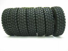 4Pcs Rubber Tires For HSP Racing Tamiya 1:14 Tractor Truck Trailer Climbing Car