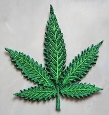 Cannabis Weed Marijuana Hemp Leaf Embroidered Iron on Patch Free Postage