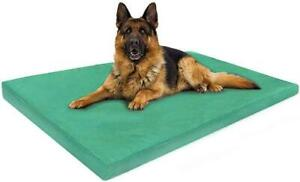 Waterproof Dog Bed with Removable Zipped Soft Cover Pad Soft Cushion Mattress