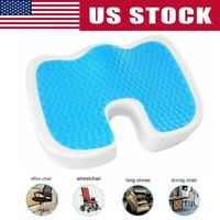 Cooling Gel Seat Cushion Memory Foam Coccyx Car Plane Chair Pillow Orthopedic US