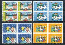 Nederland 1295 - 1298 postfris in blokken van vier