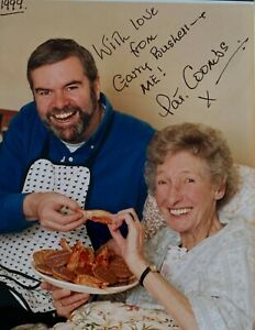 Pat Coombs Garry Bushell Eastenders Carry On Dads Army signed autograph POW#99
