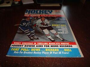 hockey illustrated magazine january 1967 bobby hull frank mahovlih bower lnh hof
