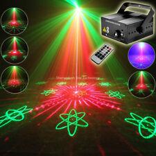 Remote R&G Laser 64 Patterns Projector Blue Led Bar Dj Dance Disco Party Light