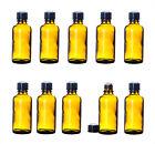 10x Apothekerflaschen 50ml klein braun Glasflaschen Tropfflaschen Labor Medizin