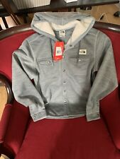 *RARE* THE NORTH FACE HOODED SWEATSHIRT Gray Lifestyle Sherpa Patrol $149 Button