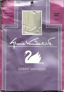 NEW Gloria Vanderbilt Day Sheer Off White Sandalfoot Reinforced Pantyhose Size A