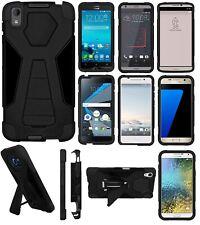 AMZER Black Dual Layer Hybrid Stand Case Asus DTEK50 HTC LG Samsung Sony Moto