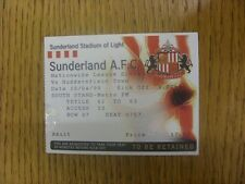 10/04/1999 Ticket: Sunderland v Huddersfield Town. Any faults are noted in brack