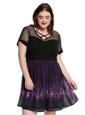 DISNEY VILLAINS PLUS SIZE 5 5X 28 DRESS Maleficent Ursula Evil Queen Torrid 4X