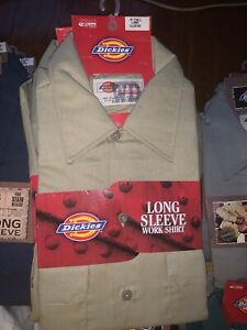 NWT Men's Dickies Long Sleeve Work Shirt Various Sizes and Colors NEW OLD STOCK