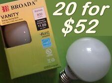 (20x) CFL Vanity Globe Compact Fluorescent Bulbs -14watt  Warm White ~60w Equiv