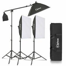 "33-86"" Photo Studio 3 SoftBox Led Light Stand Lighting Kit Photography Equipment"