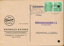 LEIPZIG, Postkarte 1956, Reinhold Mothes Chemisch-technische Erzeugnisse