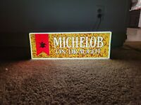 Vintage Michelob On Draught Light Up Sign 1976