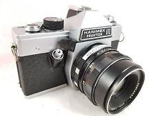 VINTAGE Hanimex Praktica LTL 35mm SLR Camera w/Pentacon 50mm f1.8 Auto Lens