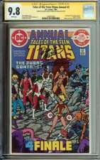 Tales of the Teen Titans Annual #3 SS CGC 9.8 x2 Auto Perez Wolfman Judas Contra