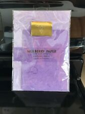 Mulberry Paper Writing Stationery 6 Sheets/6 Envelopes Hand Made New. Purple.