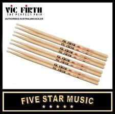 VIC FIRTH 5AN NYLON TIP DRUM STICK 4 PAIRS 5A DRUMSTICKS VF5AN USA HICKORY - NEW