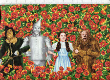 dorothy scarecrow lion woodsman ~ THE WIZARD OF OZ FIELD OF POPPIES ~ fabric