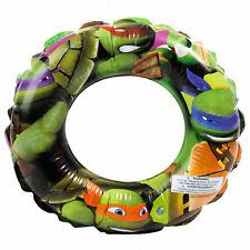 """New listing Inflatable 20"""" Swim Ring Teenage Mutant Ninja Turtles Tmnt Kids Pool Tube Float"""