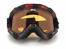 SPY+ Optic ZED Snow Goggle BUNYAN Red-Black Plaid Frame with Persimmon Lens