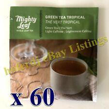 Mighty Tea Leaf Whole Leaf MLT Green Tea Tropical 60 Ct Bags Individually Foiled
