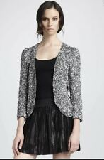 Parker Sequins Beaded Jacket Silver Gray XS