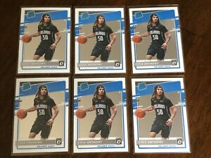 (6) 2020-21 Panini Donruss Optic Rated Rookie RC lot COLE ANTHONY