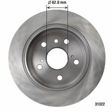 Disc Brake Rotor Rear AUTOZONE/ DURALAST-QUALIS 31322