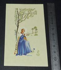 CHROMO 1980-1990 IMAGE PIEUSE CATHOLICISME HOLY CARD VIERGE MARIE PRIERE