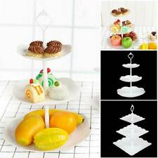 3 Plastic Tier Cake Stand Afternoon Tea Wedding Plate Party Tableware Display