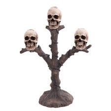 """RAZ Imports Large 17"""" Skull Candelabra Candle Holder Halloween NEW!"""