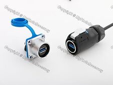 New Waterproof USB3.0 USB 3.0 Socket and Connector IP65/IP68 Panel Mount