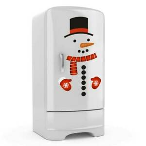 Snowman Refrigerator Stickers Christmas Fridge Garage Door Stickers Decals AU