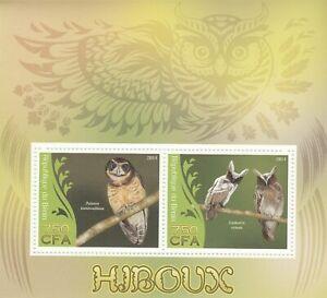 Owls Benin 2014 Mint 1756