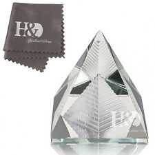 Feng Shui Egypt Egyptian Crystal Clear Pyramid in Pyramid Healing Gift 2x2 inch