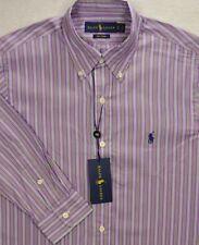 Ralph Lauren Polo Purple Poplin Striped 100 Cotton Button up Shirt Sz S