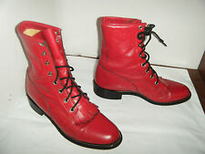 JUSTIN  Granny Grunge Boots Size 6 B Women's (RUN BIGGER )SEE MEASURES
