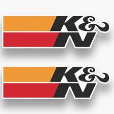 2X K&N FILTERS AIR DECAL STICKER US MADE TRUCK VEHICLE RACING INTAKE CAR WINDOW