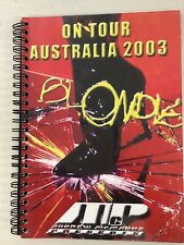 Blondie Tour Book Itinerary Book 2003 Australia Tour Tough To Get Auckland