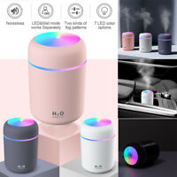 USB Electric Aromatherapy Oil Diffuser Ultrasonic LED Air Humidifier Mist Maker