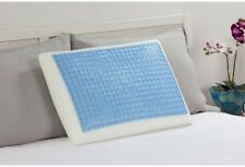 Memory Foam Bed Standard Pillow w/ Hydraluxe Gel Technology and Blue Gel Bubbles