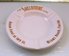 THE SHELBORNE HOTEL MIAMI BEACH FLORIDA VTG ROYAL CHINA WHITE CERAMIC ASHTRAY