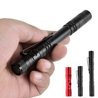 Q5 LED Tactical Flashlight 8000 LM Bright Torch Lamp Pen Light With Clip PZ