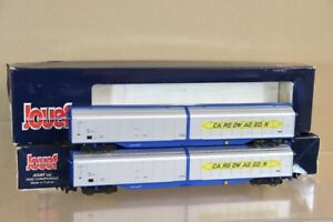 JOUEF HORNBY 670100 RAKE of 2 DB CARGO WAGGON SLIDING DOOR WAGON nx