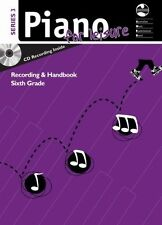 AMEB Piano For Leisure Series 3 Grade 6 Supplement CD Recording & Handbook