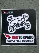 "Guy Martin / Red torpedo / "" givin' it full throttle "" decal / sticker / TT IOM"